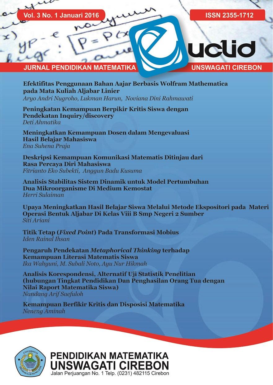 Cover Euclid Vol.3 No.1 Januari 2016